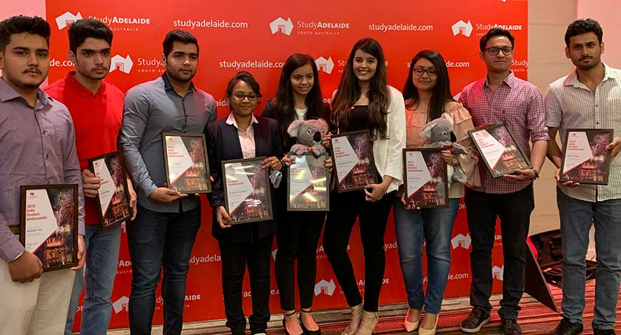 10 Indian students in South Australia made student ambassadors