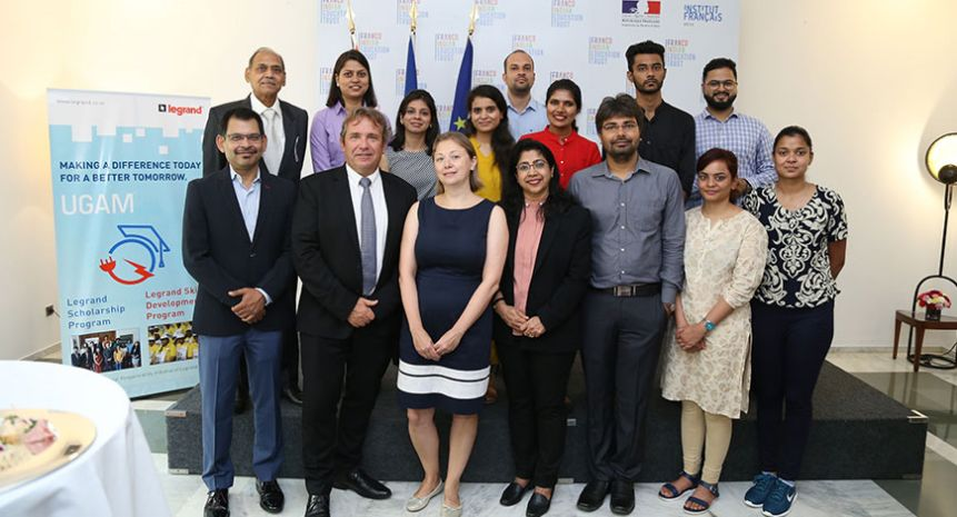 Legrand India UGAM scholarship supports Indian students in France