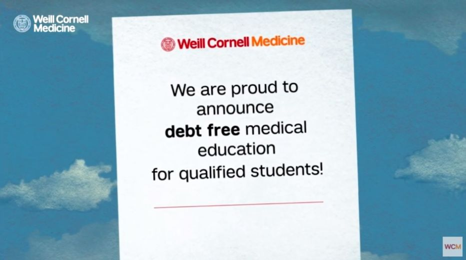 Cornell to end student debt for qualifying medical students