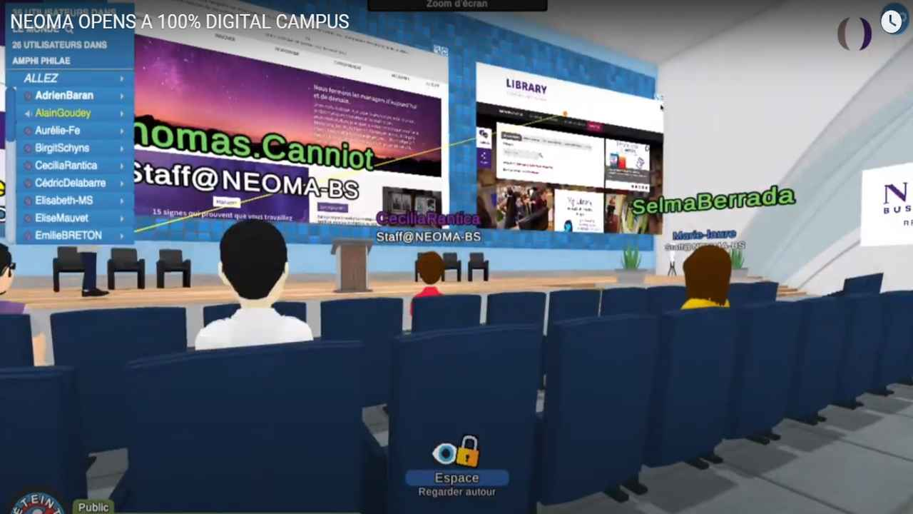 NEOMA launches fully virtual campus