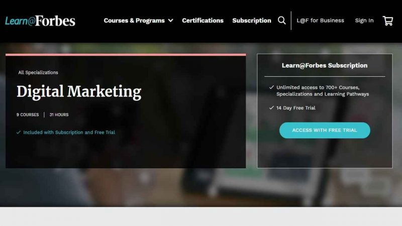 Learn@Forbes launches online digital marketing courses - Global Education Times (GET News)