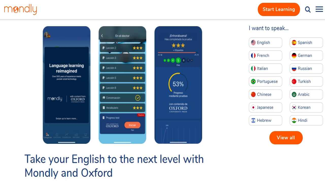 Mondly and Oxford University Press launch new English learning module